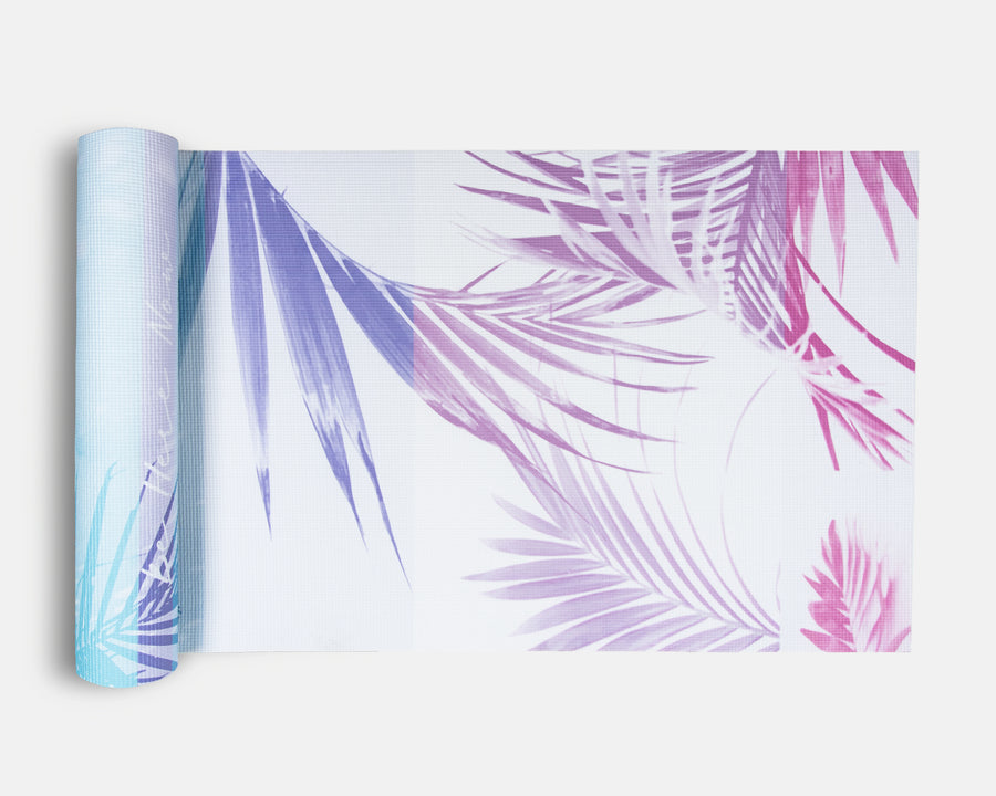 Yoga Mat - Tropical Palm Print