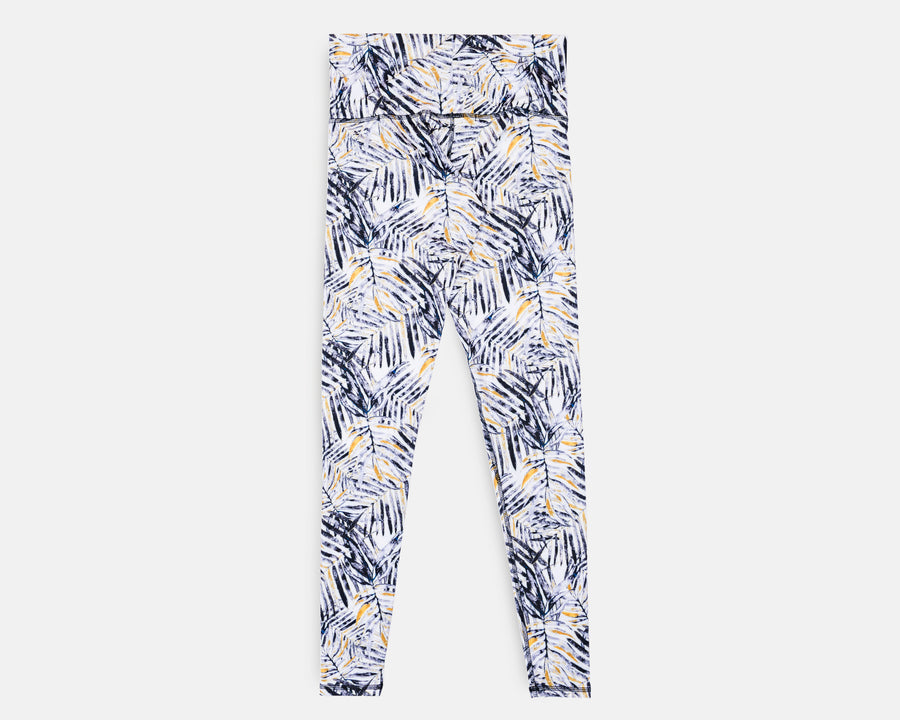 Charly Legging in Mono Palm print