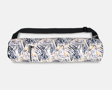 Yoga Mat Bag - Mono Palm Print