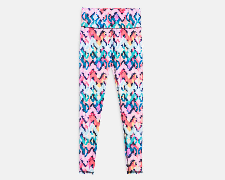 Charly Legging in Tropical Ikat Print