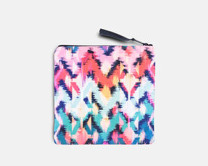 Canvas Bikini Bag - Tropical Ikat Print