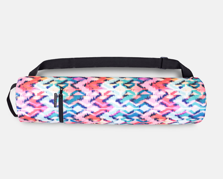 Yoga Mat Bag - Tropical Ikat Print