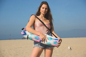 Canvas Yoga Mat Bag - Vintage Ikat Print