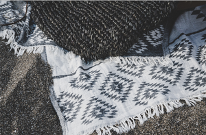 Aztec Beach Blanket - Black