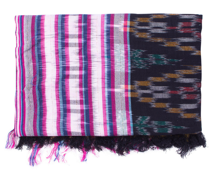 Ikat Beach Throw - Black