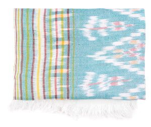 Ikat Beach Throw - Mint