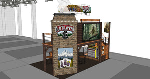 Old Trapper Smoked Products to Debut Two-Story Log Cabin and Fireplace Chimney at Sweets and Snacks Expo