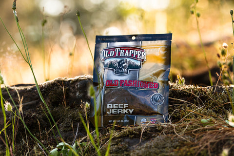 Old Trapper Beef Jerky in the Sun