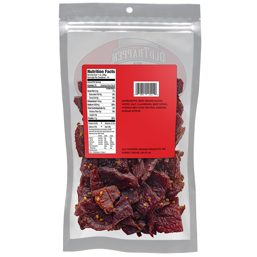 Traditional Style Jerky - Hot & Spicy 10 oz bag
