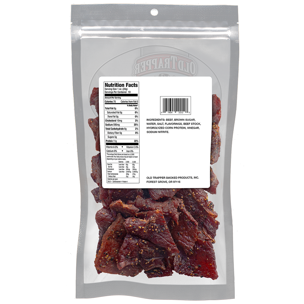 Peppered 10oz Bags Bulk Case - 12 pkg per case