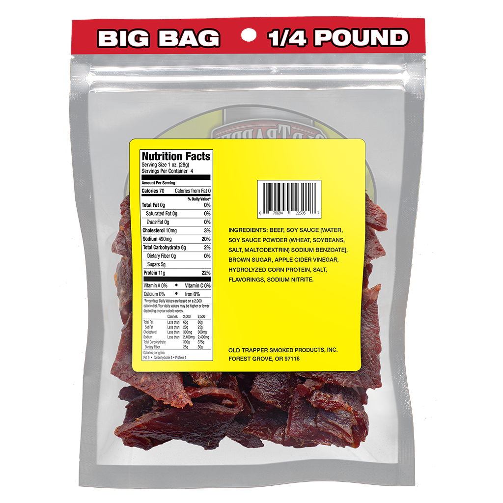 Case of 8 packages Teriyaki - 1/4 lb