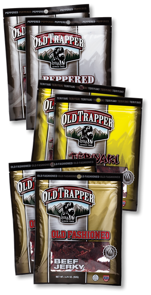 Beef Jerky Six Pack Sampler - 2 packages of each of our 3 most popular flavors