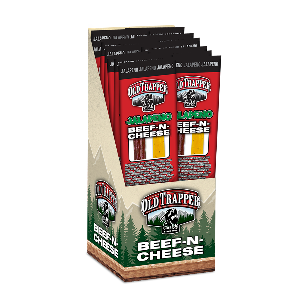 Jalapeno Beef & Cheese Snack Stick | Old Trapper