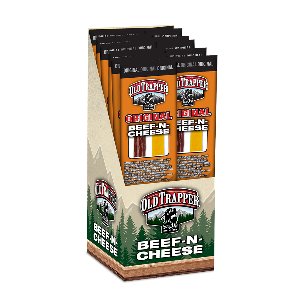 Original Beef & Cheese Snack Stick | Old Trapper