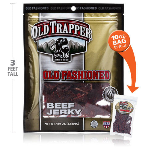 Old Trapper 30 LB Beef Jerky Bag - Buy Now