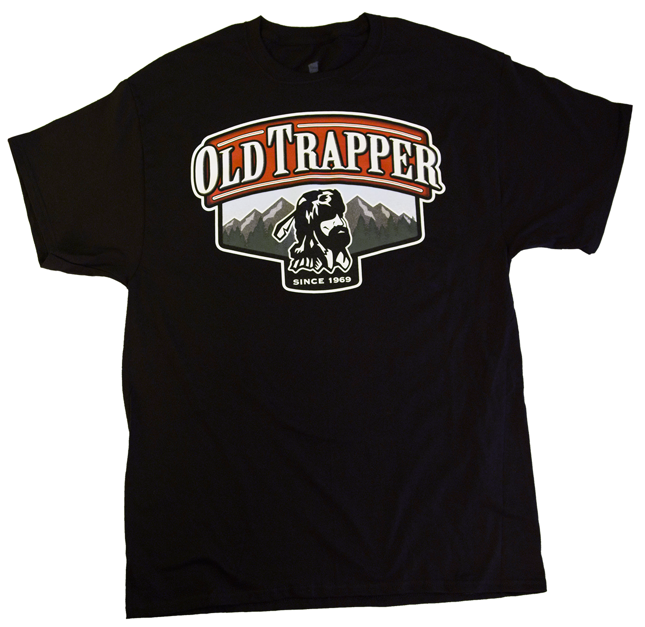 Old Trapper Beef Jerky Logo T-shirt - Black