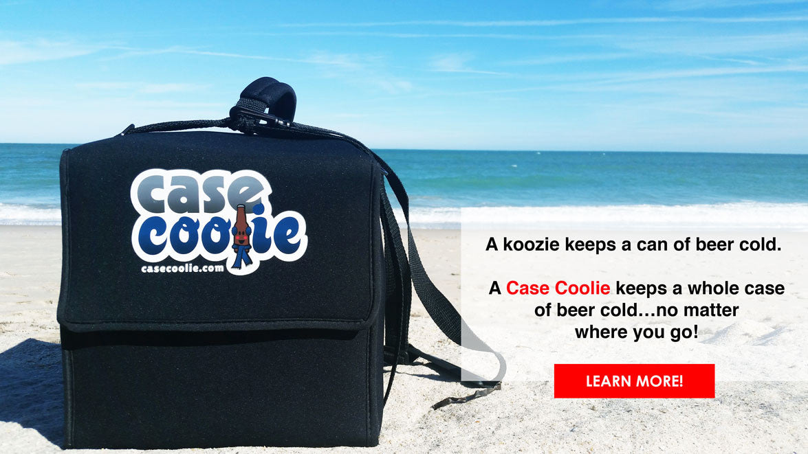 A Case Coolie keeps beer cold for 10 hours without ice