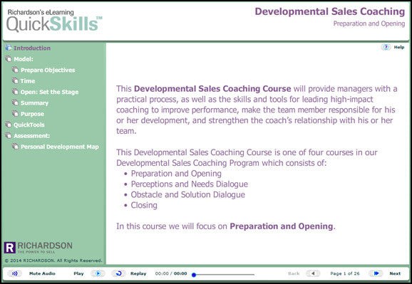 Developmental Sales Coaching