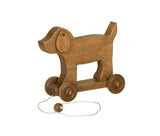 Amish-Made Wooden Pull Toy Dog