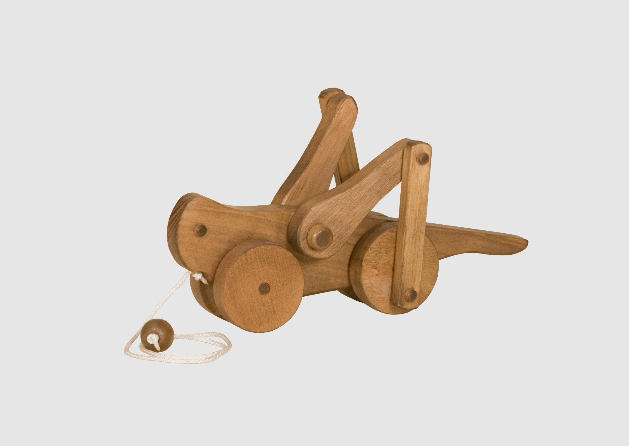 Wooden Amish-Made Pull Toy Grasshopper