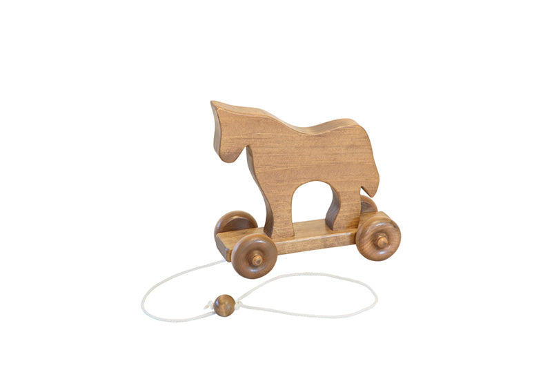 Wooden Pull Toy Horse