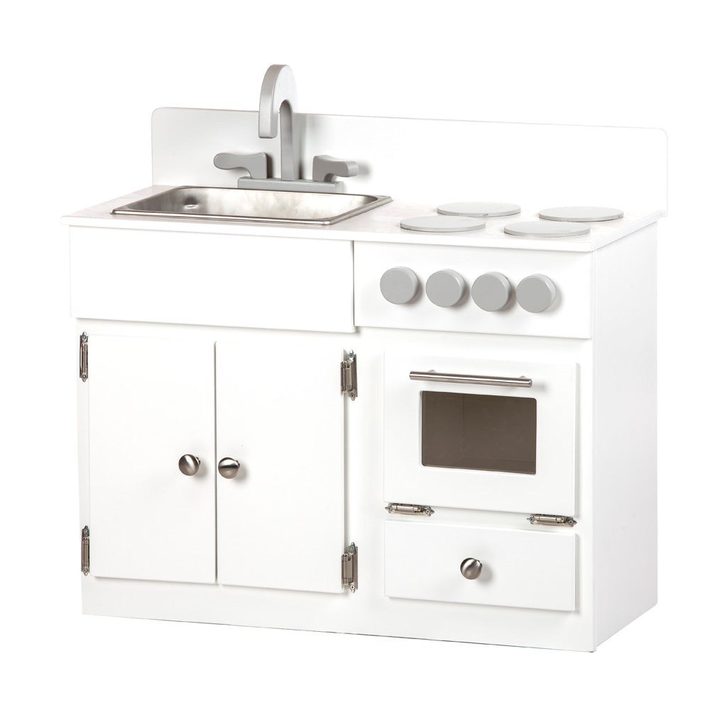 Child's Wooden Stove and Sink Playset Toy