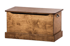 "Amish-Made Deluxe Wooden Toy Box Chest (Small - 30"" Wide)"