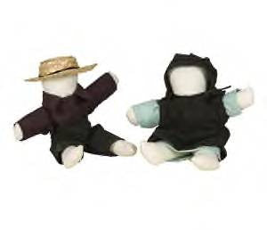 "8"" Handmade Amish Dolls"