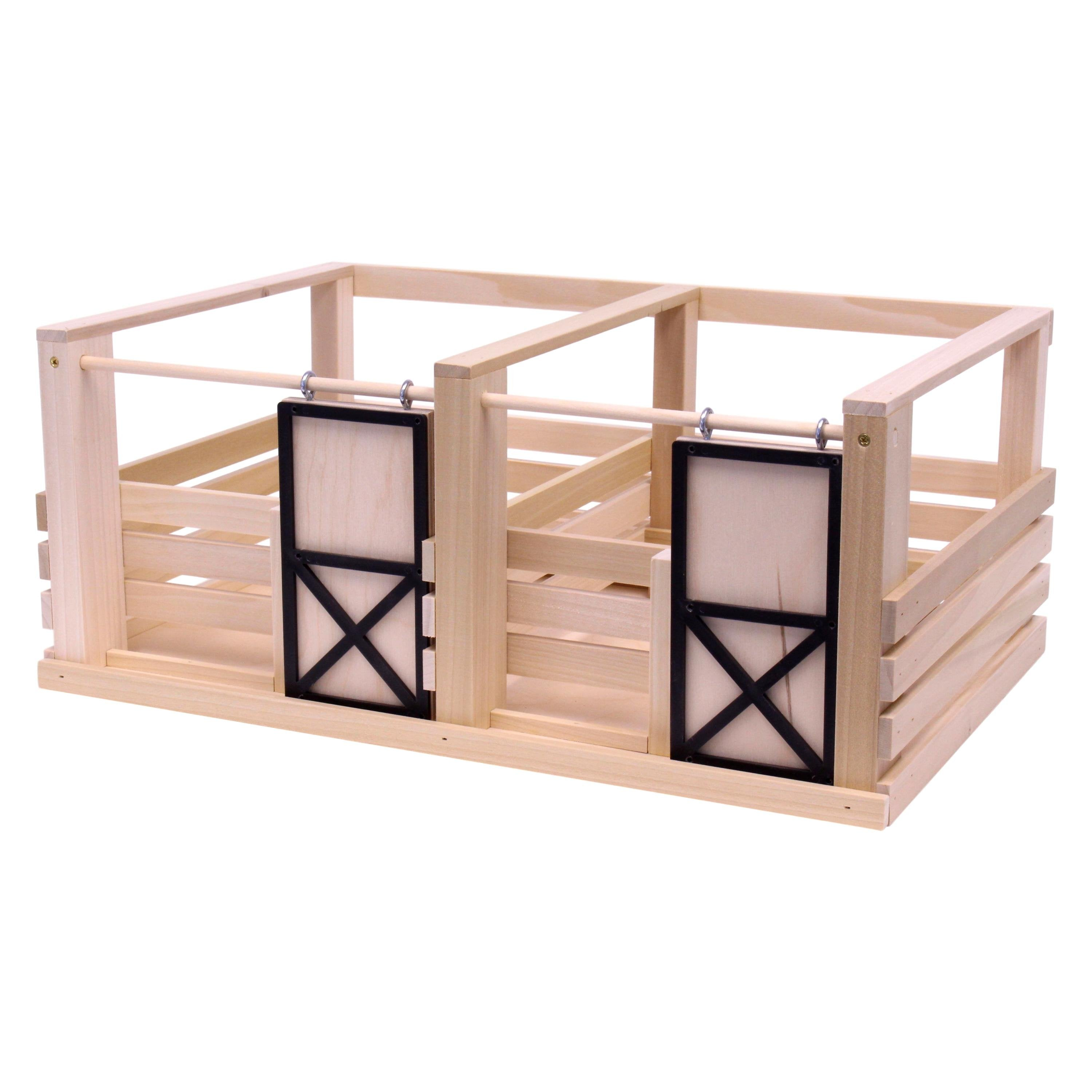 Amish Made Toy Wooden 2 Stall Horse Stable Amishtoybox Com