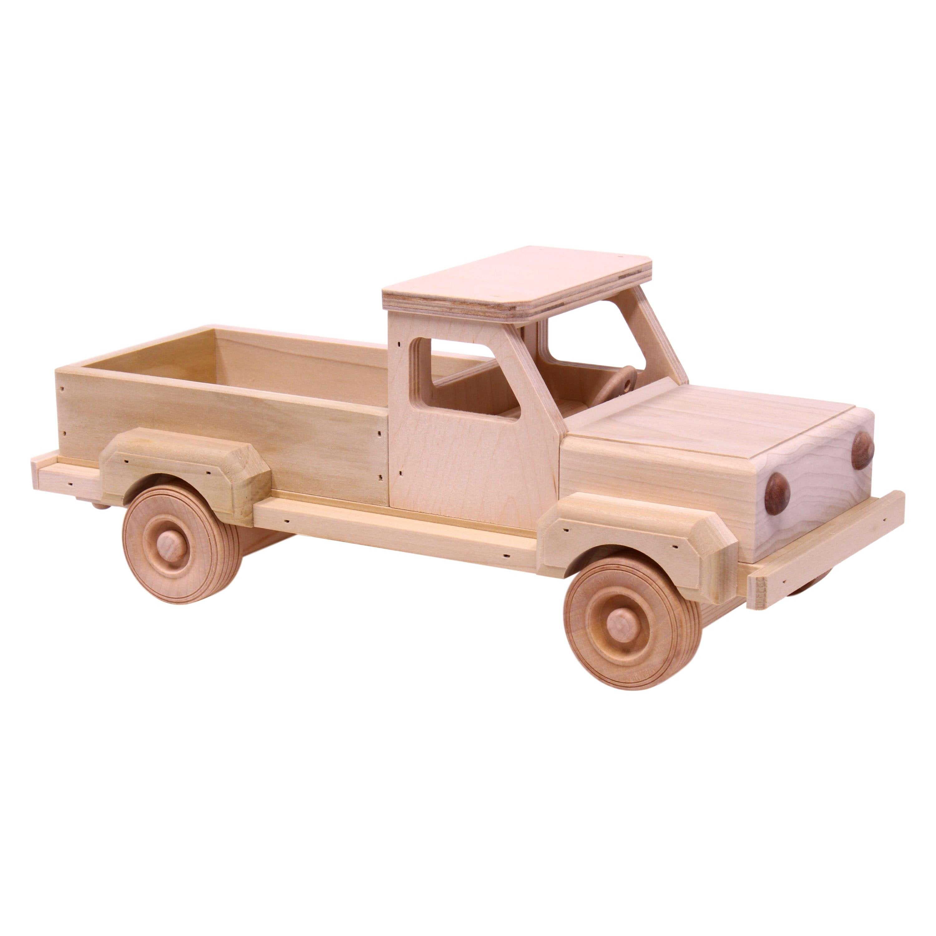 Amish-Made Wooden Toy Pickup Truck