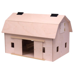 Amish-Made Large Wooden Hip-Roof Barn Toy