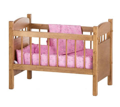 "Amish-Made Wooden Deluxe Doll Crib for 18-20"" Dolls, ""Katies Collection"""