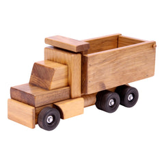 Amish-Made Wooden Dump Truck Toy