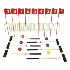 NEW! Amish-Made Deluxe Flag Croquet Golf Game Set