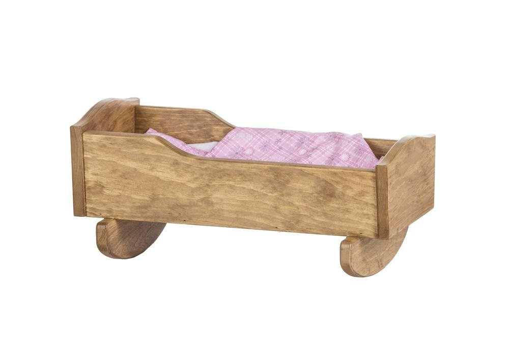 "Amish-Made Wooden Doll Cradle for 18"" Dolls, ""Rebekah's Collection"""