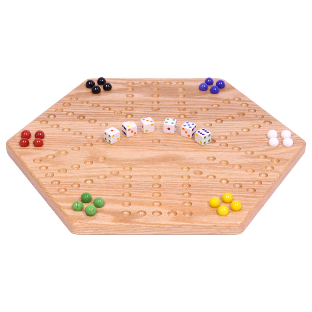 "Solid Oak 16"" Wide Aggravation Game Board, Unpainted Holes, Double-sided"