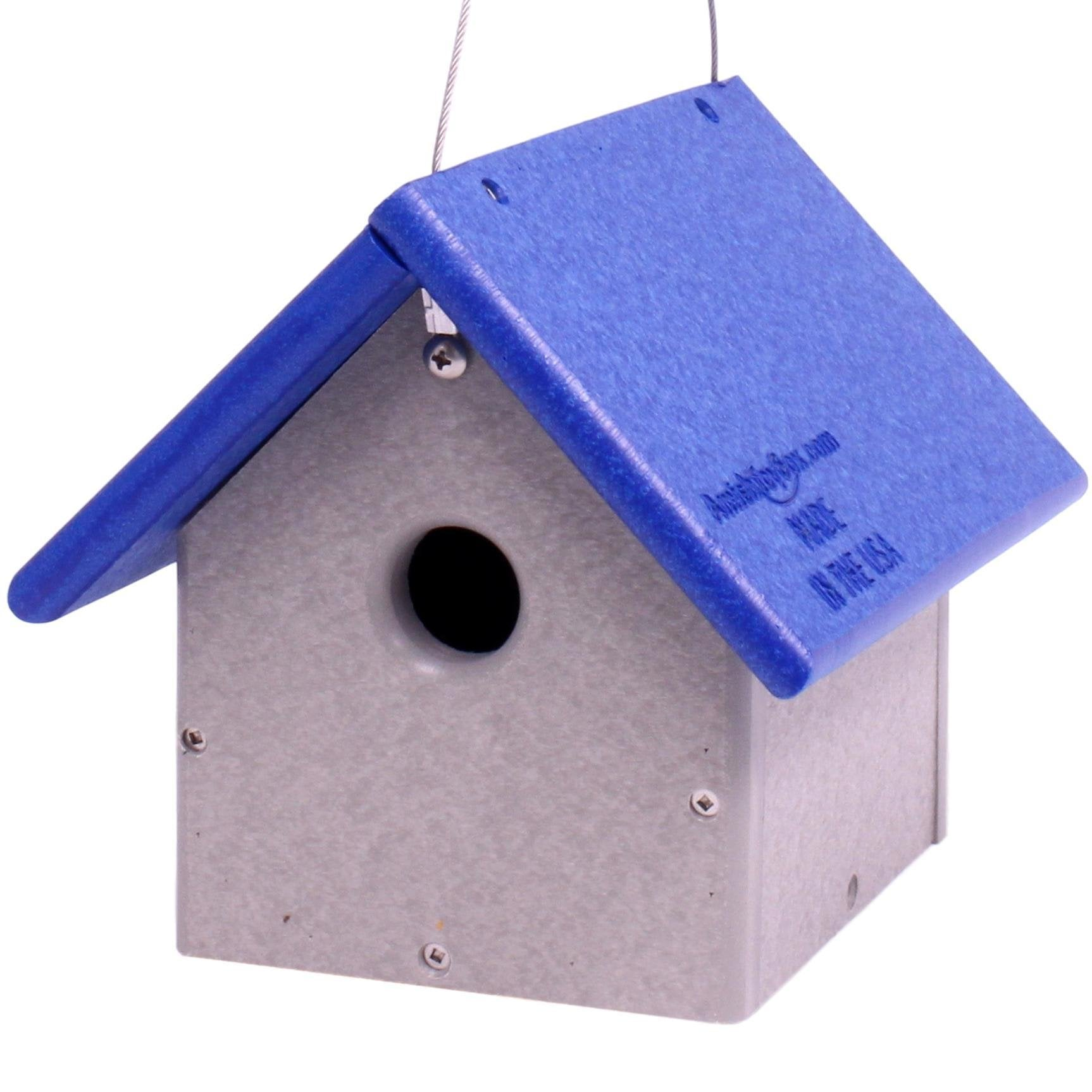 Amish-Made Chickadee or Wren House, Poly-Wood Bird House