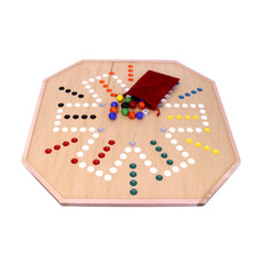 "Amish-Made Large 25"" Deluxe Wooden Aggravation (Wahoo) Marble Game Board, Double-Sided"