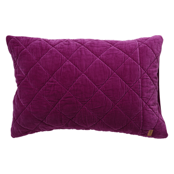 Kip & Co Quilted Velvet Pillowcase Set - Grape Skin Purple