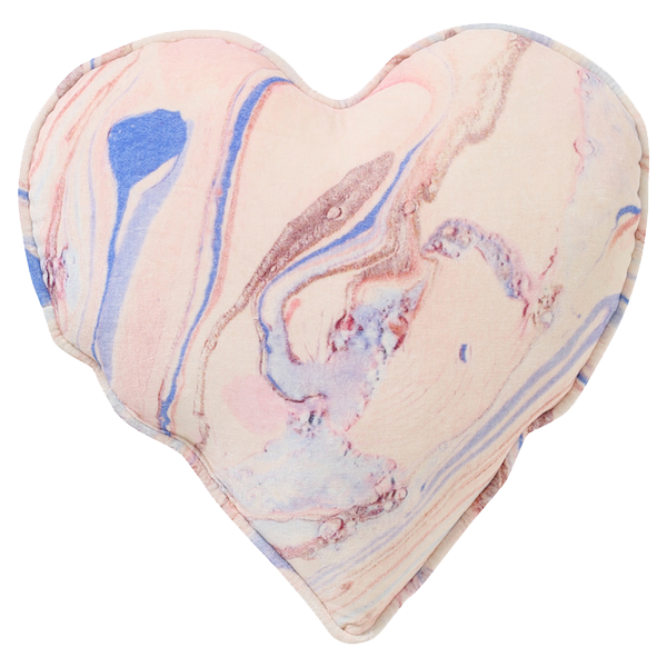 Kip & Co Marble Magic Velvet Heart Cushion
