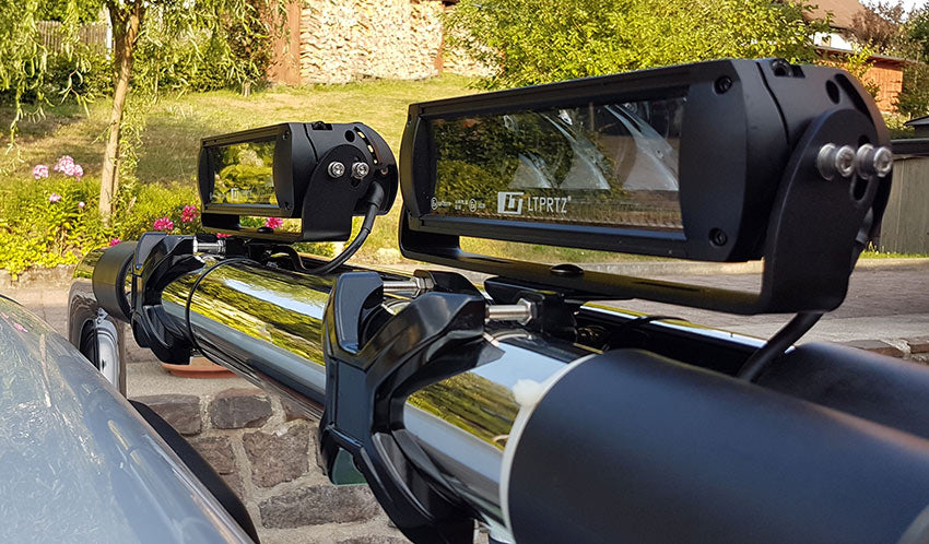 LED Lights fitted to roll bar