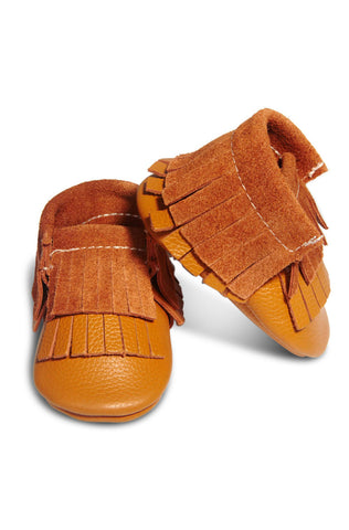 Leather Baby Mocc Boot - Toffee