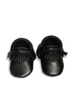 Leather Baby Moccasins - Black - Tui B - 2