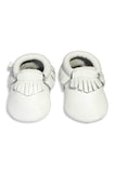 Leather Baby Moccasins - White - Tui B - 2