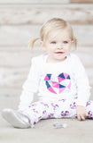 Geo Heart Magenta & Navy Leggings - Tui B - 2