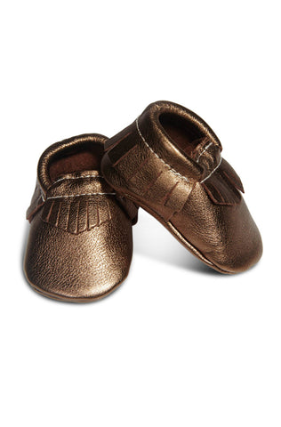 Leather Baby Moccasins - Bronze