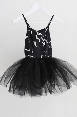 Electric Swan Dress - Black Electric