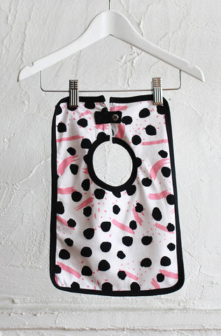 Square Baby Bib - Pink Paintbox