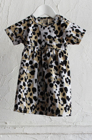 Empire Line Dress - Leopard