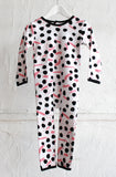 All in 1 Long Sleeve Onesie - Pink Paintbox - Tui B - 1